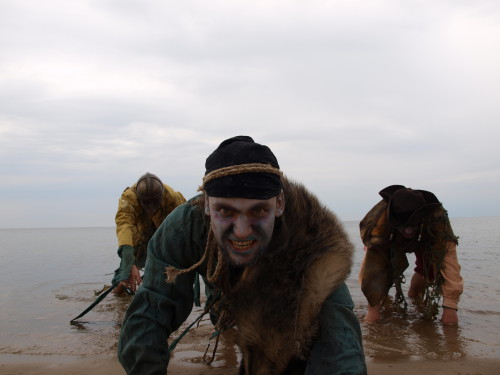 Viking zombies crawling out of the Baltic Sea.
