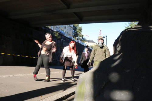 The zombie action was realized in partnership with the Zero Hour zombie festival. Photo: Sigrid Reede