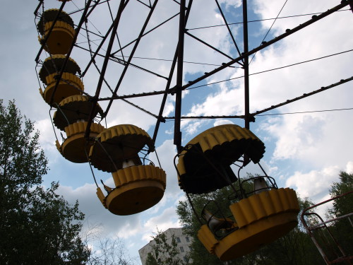 The ferris wheel in Pripyat is one of the more famous landmarks of the Chernobyl Exclusion Zone. Photo: Juhana & Maria Pettersson