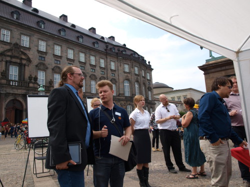 Participants in the middle of the game. Photo: Juhana Pettersson